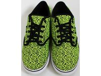 Women's Size 5 Vans Trainers - Yellow and Black Leopard Print