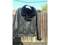 Leather flying jacket