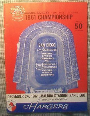 1961 AFL CHAMPIONSHIP PRE SUPER BOWL PROGRAM SUPERBOWL – OILERS WIN 2ND EVER GM!