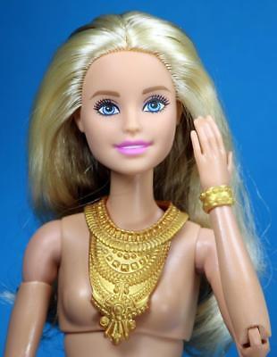 Barbie Fashionistas Set 6 Choose Pick 1 Gold Color Necklace for 1//6 Doll