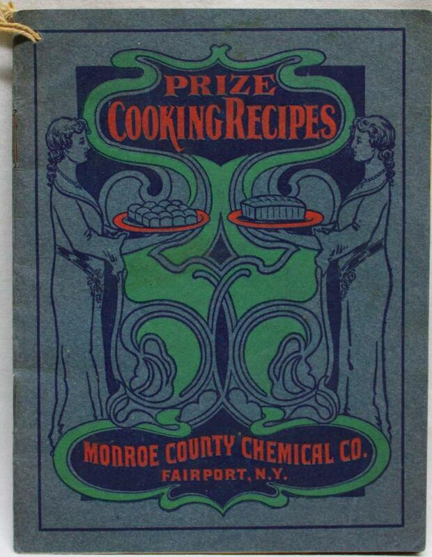 MONROE CHEMICAL COMPANY PRIZE COOKING FOOD RECIPES BROCHURE 1910s VINTAGE