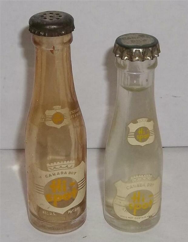 Vintage Mini Canada Dry Hi-Spot Promotional Pop Soda Bottles