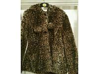 Womens leopard fur coat