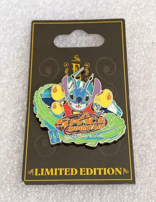 Disney WDW E-Ticket Attractions Stitch Space Mountain LE 1500 Pin