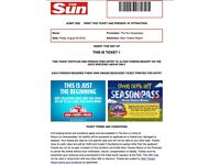 4X ALTON TOWERS TICKETS - FRI 24TH AUGUST £80 - SUMMER HOLS