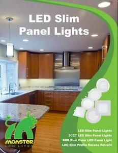 SALE !!!!  LED 4'' Slim panel/pot light 9W=50W cUL certified IC Rated