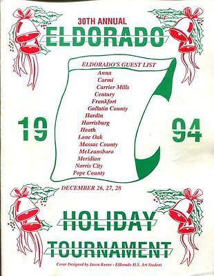 High School Basketball Program Illinois 1994 Tournament Eldorado Holiday