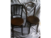 2 Vintage Mebli Gietych Radomsko chairs with embossed seats