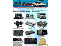 Car Audio & Light Installation (Stereo, DVD, Navigation, Rear view camera, Speakers, Amplifiers)