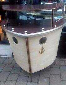 Vintage retro and very very cool, boat bar.