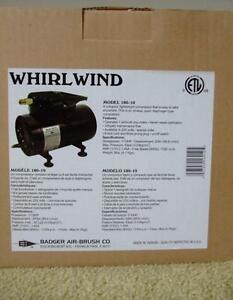 Badger Whirlwind Model 180-10 Portable Airbrush Air Compressor