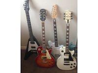 Various electric guitar gibson epiphone les paul jaguar mustang flying v