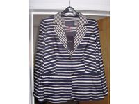 per una striped jacket