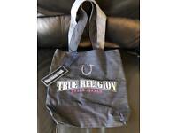 True Religion denim shopper bag *New with tags on*