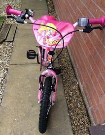 """GIrl's Roxie Bike-16"""" wheels."""