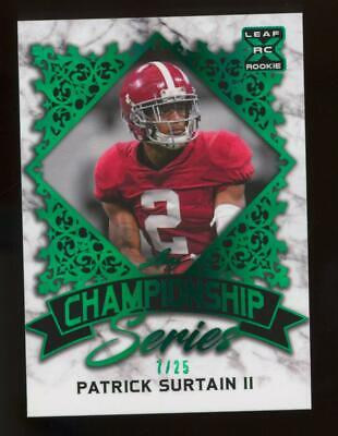 2021 Leaf XRC Championship Series Green Patrick Surtain II 7/25 RC Rookie