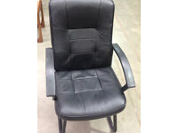 office meting boardroom reception chair faux leather ( 5 available )
