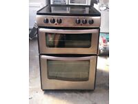 BELLING STAINLESS STEEL FREE STANDING 60cm ELECTRIC COOKER, COMES WITH FOUR MONTHS WARRANTY