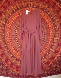 Inayah pink maxi dress gown abaya size M 58 inches long tags attached brand-new in packaging
