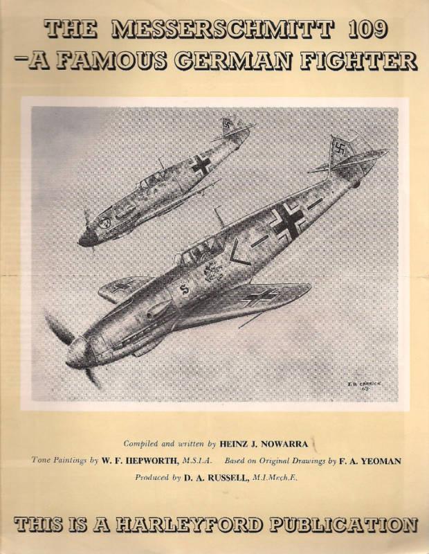 1963 MESSERSCHMITT 109 GERMAN FIGHTER English brochure with publisher