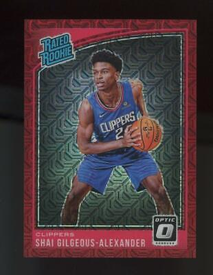 2018 Panini Donruss Optic Choice Red Mojo Shai Gilgeous Alexander /88 Rookie RC