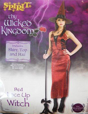 Thy Wicked Kingdom Red Lace-up Witch Costume Size Standard - New!