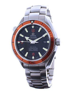 Omega Seamaster Planet Ocean Stainless Steel Automatic Mens Watch Box/Book