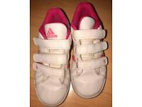 Girls size 10 Adidas trainers