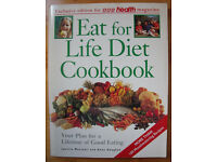 Vintage (1992) paperback Eat for Life Diet Cook Book/Janette Marshall & Anne Heughan. 80 pages.
