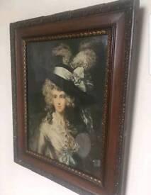 Antique Edwardian Gainsborough lady picture