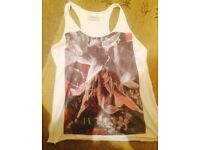 All Saints Vest Top T-Shirt *in Bloom* Graphic, UK 12