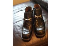 MENS RAVEL BOOTS BLACK PATENT LEATHER SIZE 8