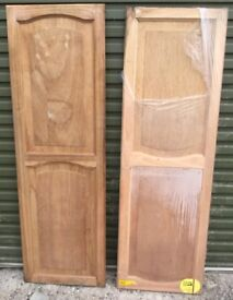 "2x Hardwood Cabinet Cupboard Doors 21"" x 66"""