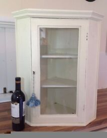 Small hanging corner cupboard - pretty, characterful.