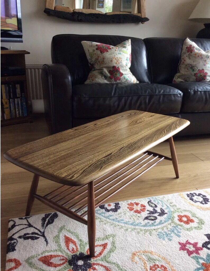 Ercol windsor elm coffee table in newton abbot devon for Coffee tables gumtree london