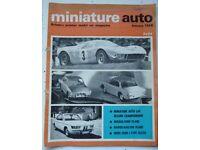 'MINIATURE AUTO' - NOSTALGIC & VINTAGE COLLECTABLE MAGAZINES (9 copies - Jan 1968 – Sept 1968)