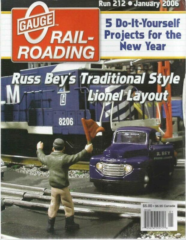 O Gauge Railroading January 2006 Modeling Harbor Scene Building Retaining Walls