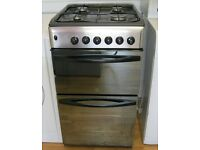 Indesit 50cm Silver Gas Cooker, FSD, 6 Month Cover Included