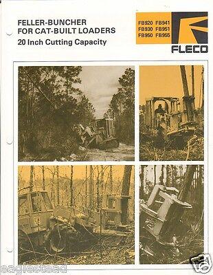 Equipment Brochure - Fleco - Fb920 Et Al - Feller-buncher For Cat Loader Eb970