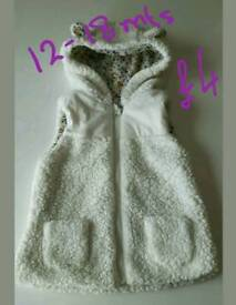 Toddler girl bodywarmers ages between 1 and 2yrs