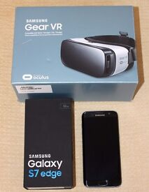Samsung S7 Edge + Samsung Gear VR - Both Excellent Boxed - Phone is Sim Free Unlocked