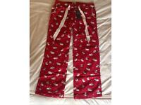 Fat Face Festive bunnies pj bottoms size 12 - new with tags