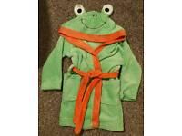 Boys 3-4 yrs frog dressing gown