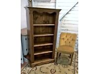 Antique Finish Solid Pine Laura Ashley Bookcase *Free Delivery* (dresser bookshelves sideboard)