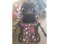 Almost new pram selling as upgraded with car seat and accesories