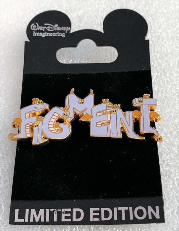 Disney WDI Figment Title Letters LE 300 Cast Exclusive Pin HTF