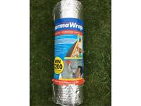 New unused roll of Therma wrap insulation