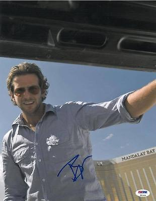 Bradley Cooper Signed Hangover Authentic Autographed 11X14 Photo Psa Dna  T51434