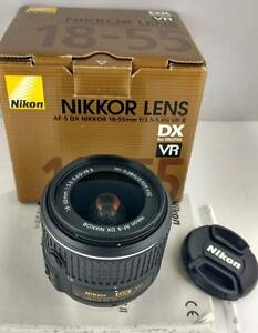 Nikon Nikkor AF-S DX 18-55mm f/3.5-5.6G VR II in box with warranty
