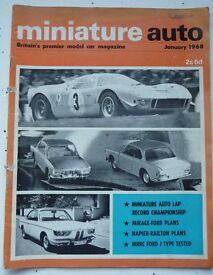 NOSTALGIC AND VINTAGE COLLECTABLE 'MINIATURE AUTO' MAGAZINES (9 copies - Jan 1968 – Sept 1968)